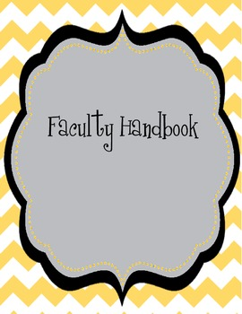 Chevron Faculty Hanbook/Binder Cover