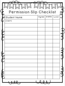 {Chevron} Field Trip Organization Pack