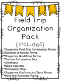 {Chevron} Field Trip Organization Pack