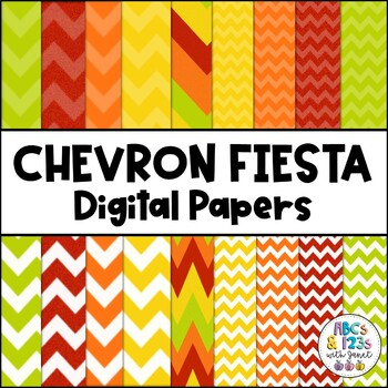 Chevron Fiesta Digital Paper Pack