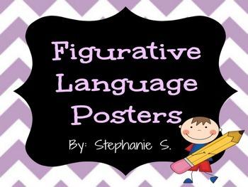 Chevron Figurative Language Posters