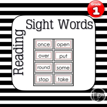 Chevron First Grade Sight Words