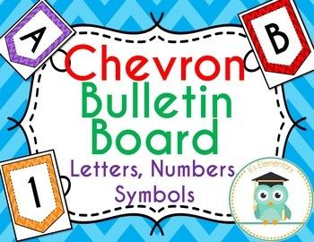 Chevron Bulletin Board Letters (Flags)
