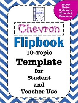 Chevron Flip Book 10-Topic Template