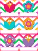 Chevron Flower Themed Birthday Display // Poster
