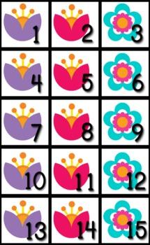 Chevron Flower Themed Classroom Calendar Set