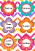 Chevron Flower Themed Job Display // Cards