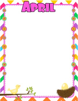 Chevron Flower Themed Monthly Newsletters