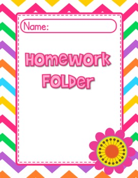 Chevron Flower Themed Student Binder Covers