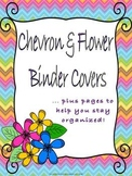 Chevron & Flowers Teacher Binder Covers and Pages