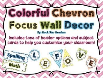Chevron Focus Wall Decor {TONS of options!}