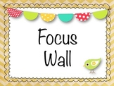 Shabby Chic Chevron Focus Wall Set