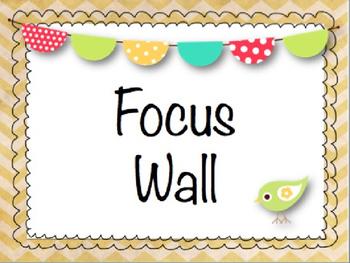 Shabby Chic Chevron Focus Wall Set (editable)