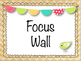 Shabby Chic Chevron Focus Wall Set (editable)