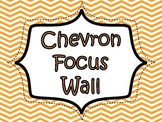 Chevron Focus Wall Signs: Orange
