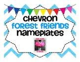 Chevron Forest Friends Nameplates