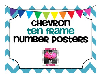 Chevron Forest Friends Ten Frame Number Posters