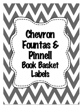 Chevron Fountas & Pinnell level Book Basket Labels