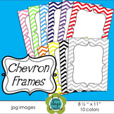 "Chevron Frames Freebie ~ 10 colors (8 1/2"" x 11"")"