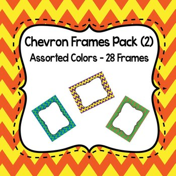 Chevron Frames Pack (2) Mixed Colors (26 Different Frames)