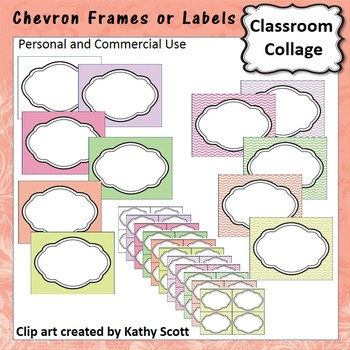 Chevron Frames or Labels Color  personal & commercial use