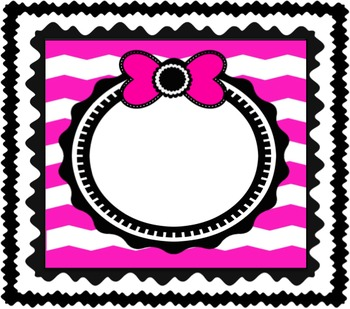 Chevron Frames with Bows!