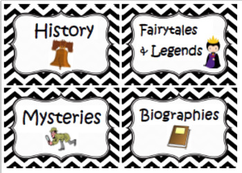 Chevron Genre Labels for your Classroom Library!