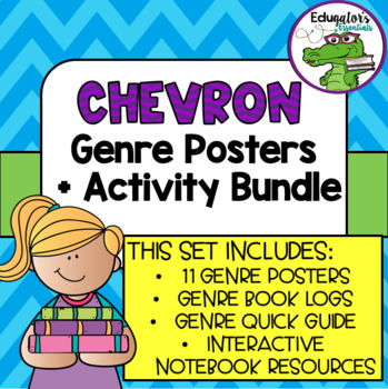 Chevron Genre Poster Bundle with Printable extras!!!