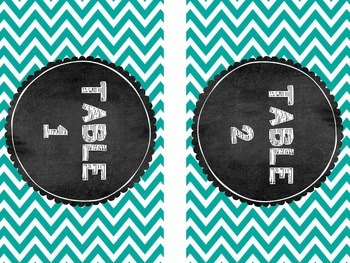 Chevron & Gingham Table Numbers