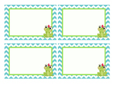 Chevron Girl Frog Labels