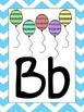 Chevron & Glitter Bright Alphabet Posters and cards