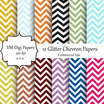 Chevron Glitter Digital Paper