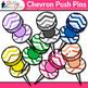 Chevron Push Pins Clip Art {Back to School Supplies for Wo