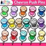 Chevron Push Pins Clip Art | School Clipart for Teachers