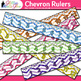 Chevron Ruler Clip Art {Back to School Supplies for Worksheets & Resources}
