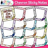 Chevron Sticky Notes Clip Art: School Supply Graphics {Glitter Meets Glue}