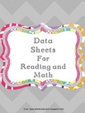 Chevron Goal Sheets for Reading and Math