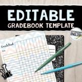 Chevron Gradebook Template Editable