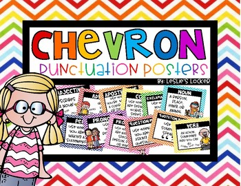 Chevron Grammar & Punctuation Posters