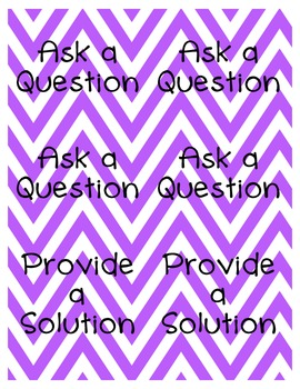 Chevron Group Discussion Prompt or Task Cards