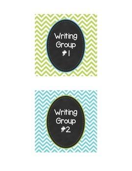 Chevron Group Labels Mini Pack