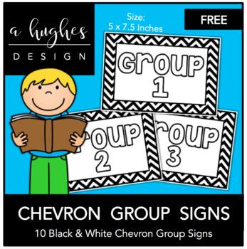 FREE Chevron Group Signs {A Hughes Design}