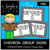 FREE Chevron Group Signs {A Hughes Design}