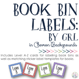 Guided Reading Level Book & Bin Labels: Chevron