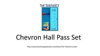 Chevron Hall Pass Set