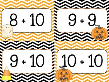 Chevron Halloween Themed Addition Cards