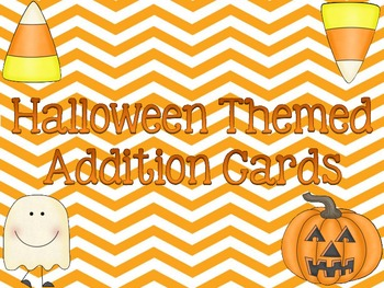 Chevron Halloween Themed Addition Cards