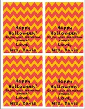 Chevron Halloween Treat Bag Poppers [Editable] [Freebie]