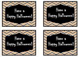 Chevron Halloween Treat Tags