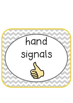 Chevron Hand Signals